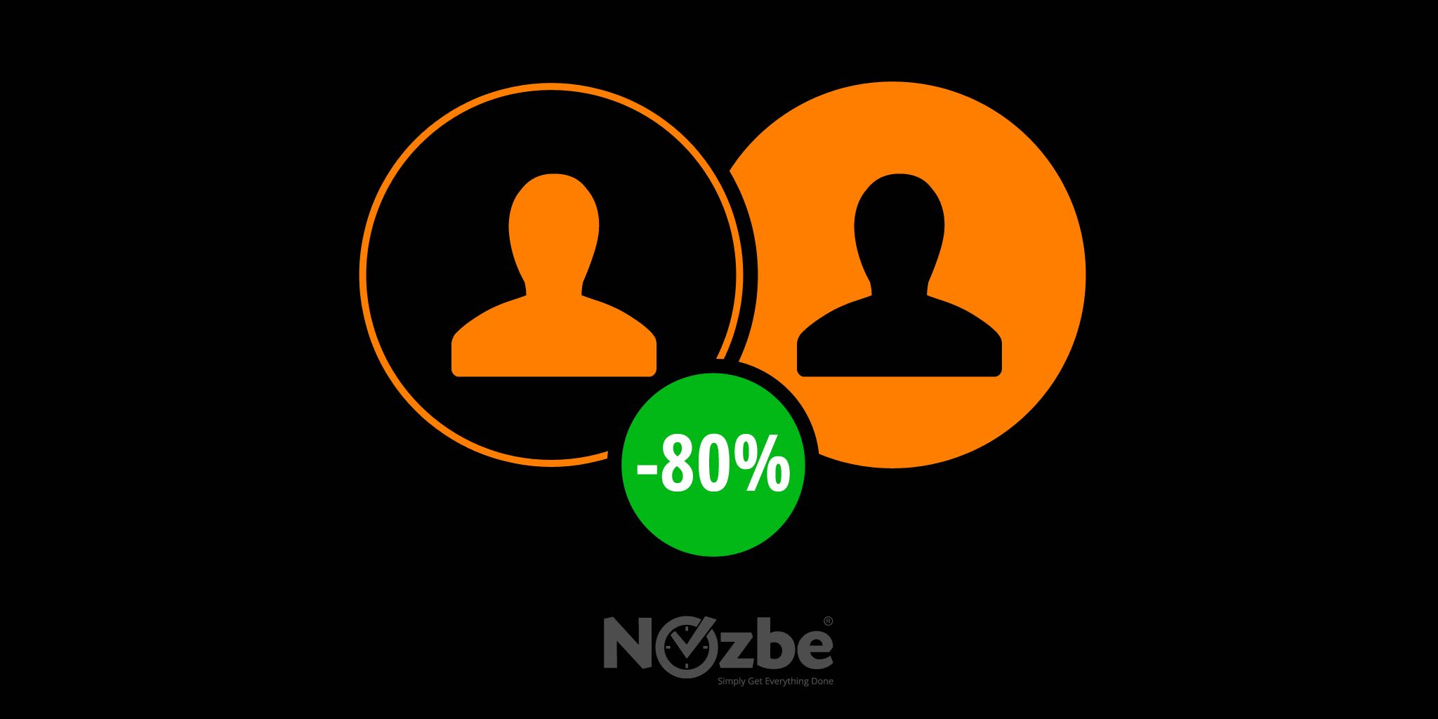 Try Nozbe 2-for-1 up to 80%