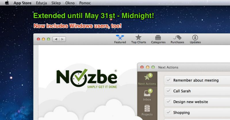Nozbe competition extended!
