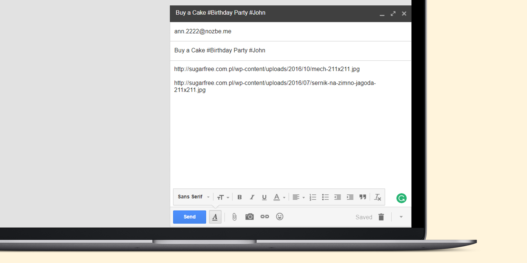 emailing task