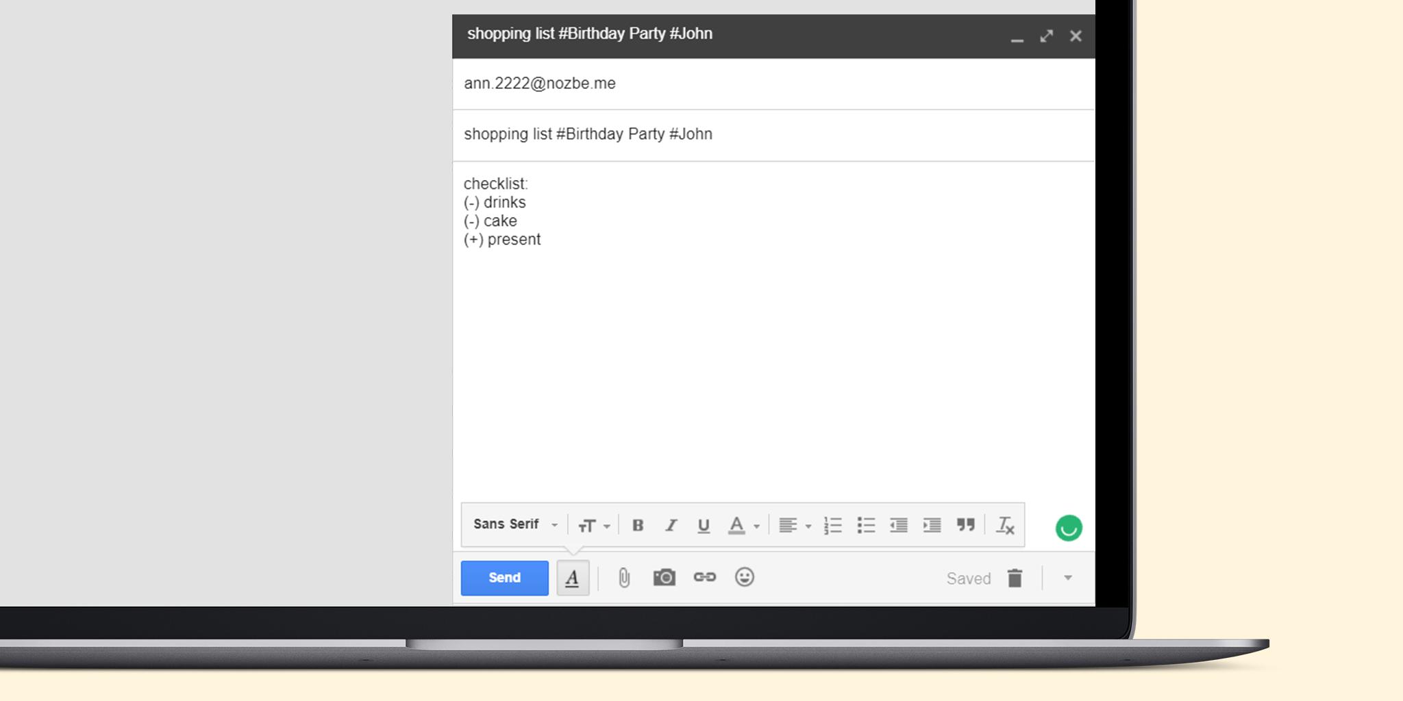 Emailing checklist