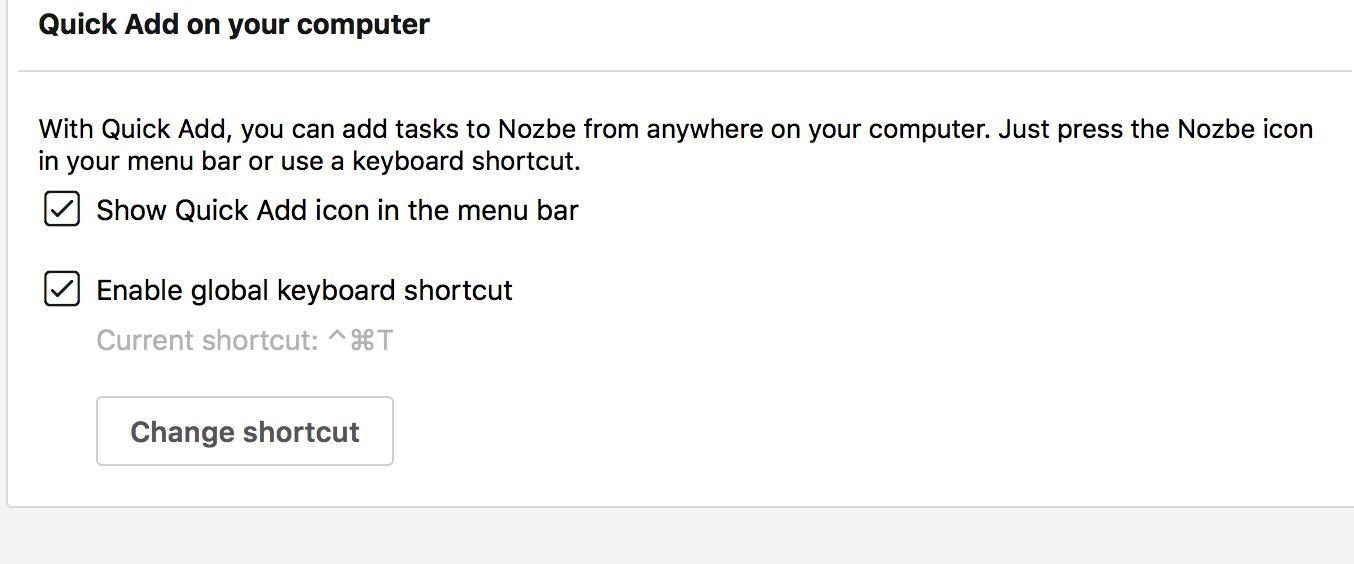 Bei OS X schnell hinzufügen
