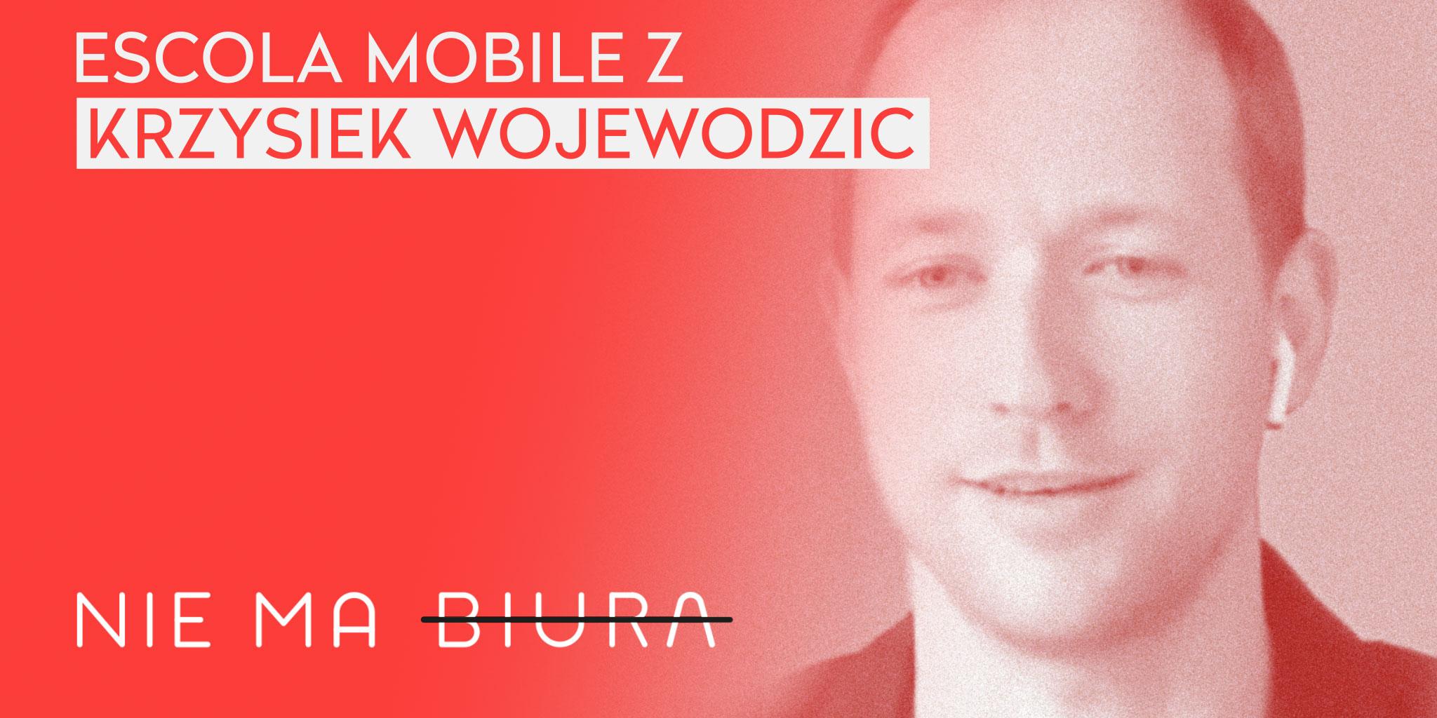 Nie Ma Biura 7 - wywiad u Krzysztofa Wojewodzica z Escola Mobile - praca zdalna, zarządzanie zespołem.