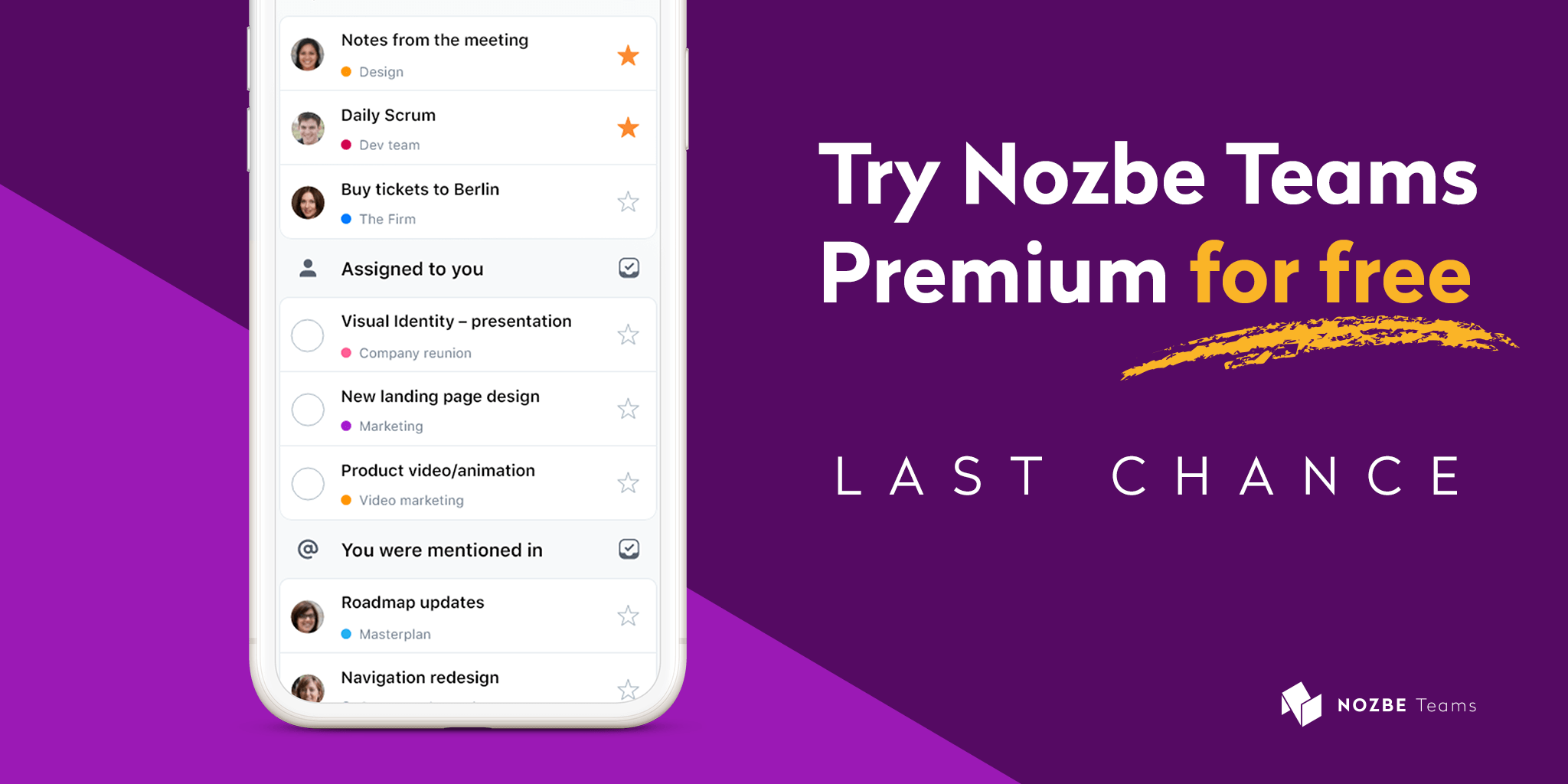 The last chance to use Nozbe Teams Premium for free