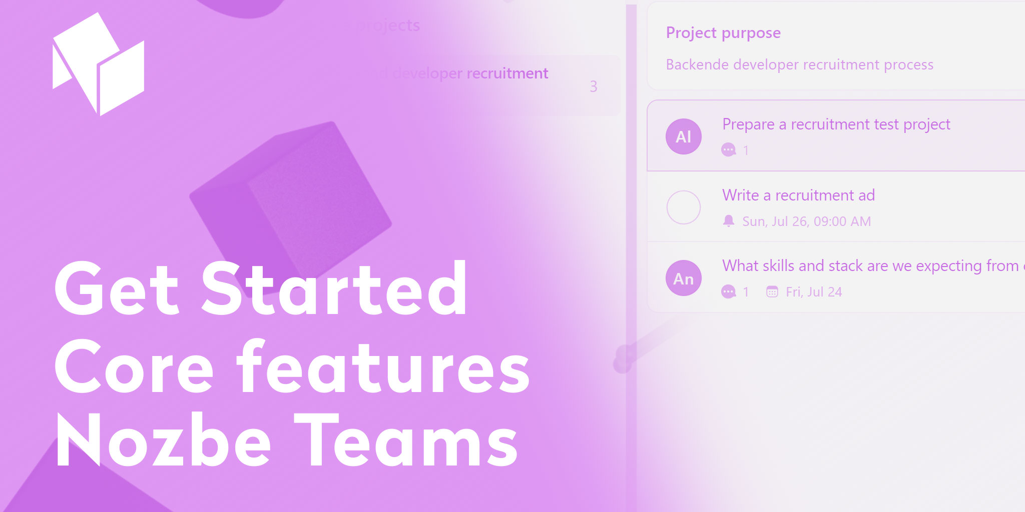 Video tutorial - improve your team collaboration with Nozbe Teams