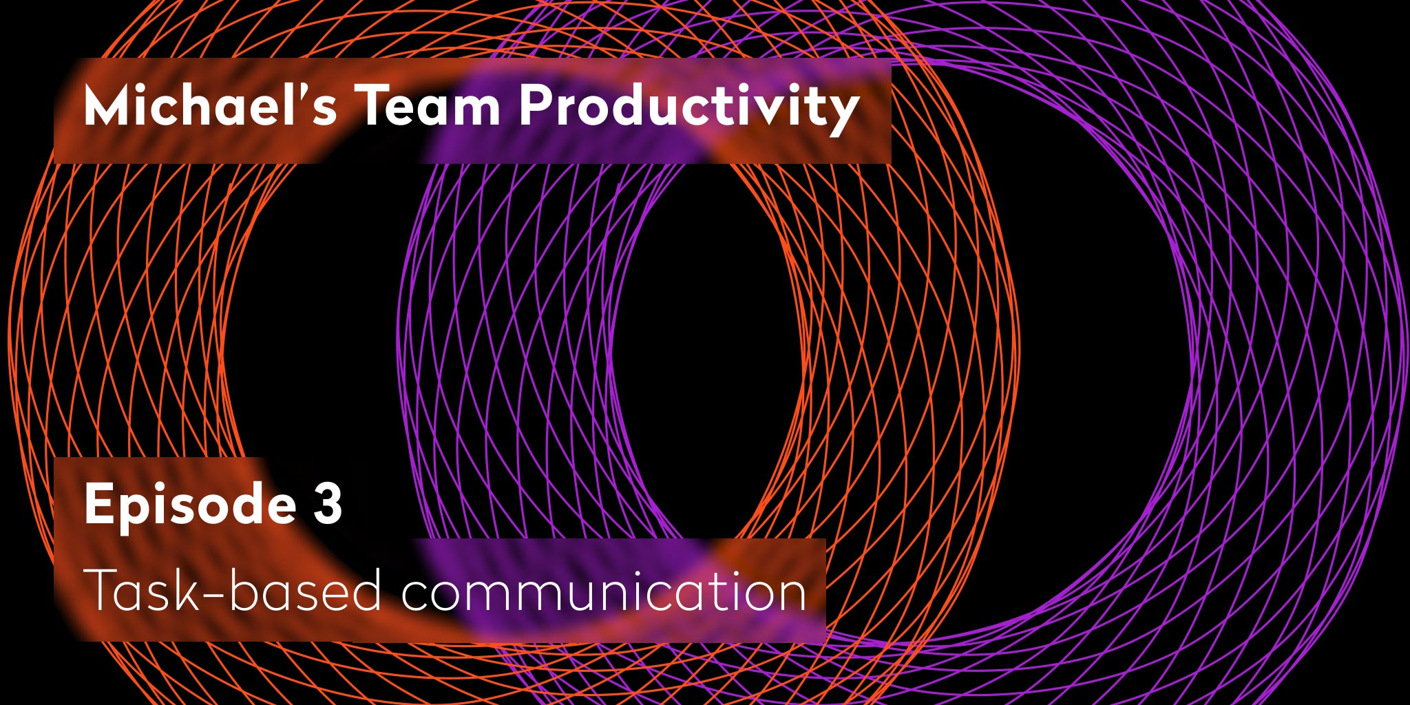 Waht is task-based communication - Michael's Team Productivity