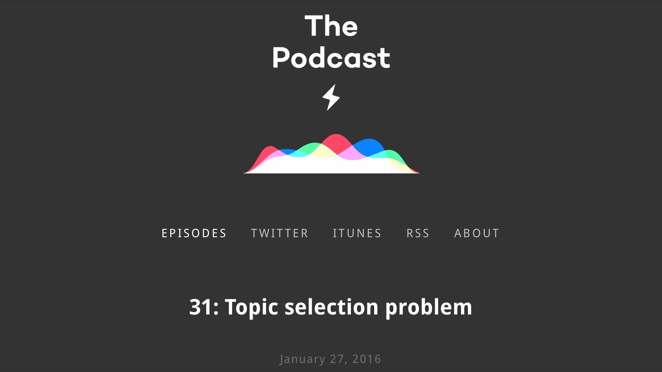 The Podcast 31
