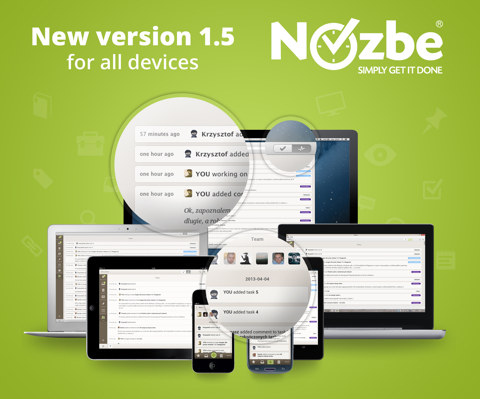 Nozbe 1.5 for all the platforms
