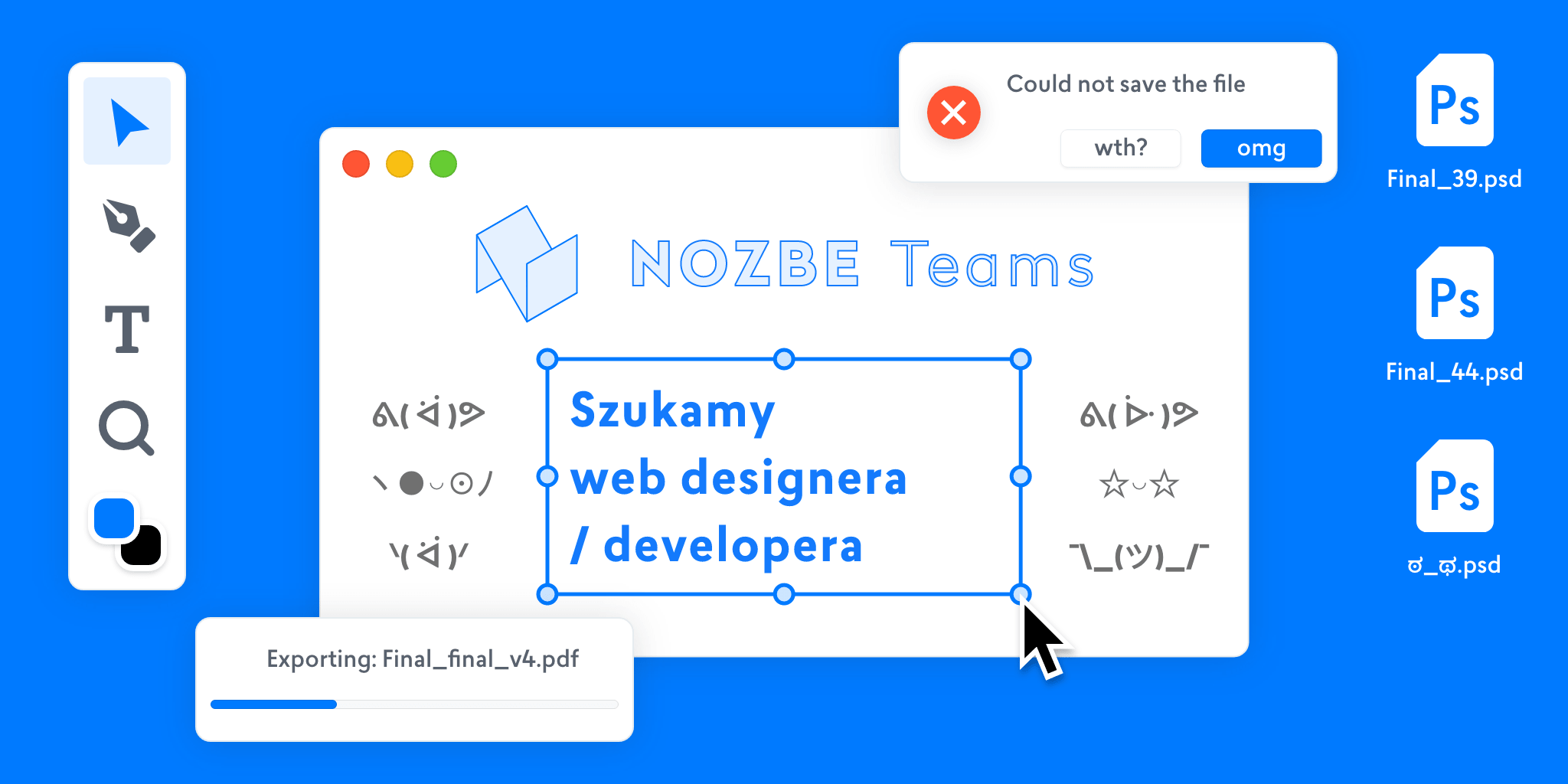 Praca dla web designera i developera w jednej osobie