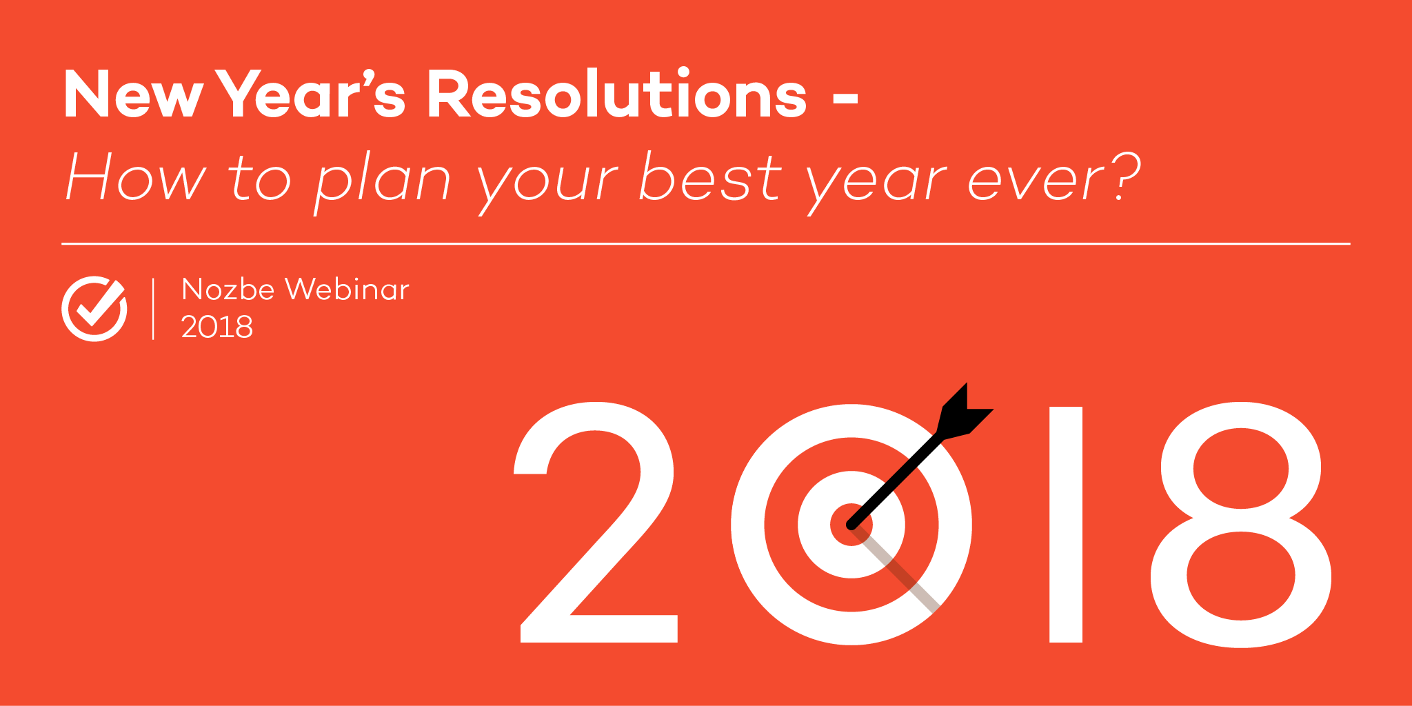 Webinar New Year's Resolutions
